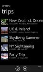 Trips list